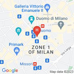 Map UNA MAISON MILANO