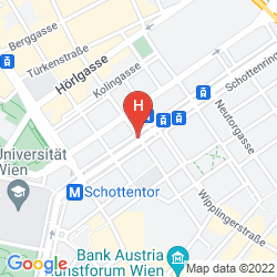 Map HILTON VIENNA PLAZA
