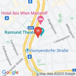 Map MERCURE HOTEL RAPHAEL WIEN