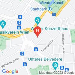 Map AM KONZERTHAUS VIENNA MGALLERY BY SOFITEL