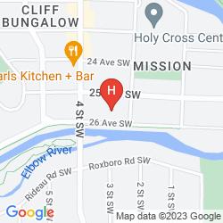 Map CALGARY WESTWAYS GUEST HOUSE
