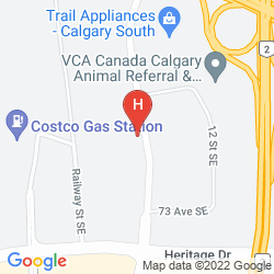 Map SANDMAN HOTEL & SUITES CALGARY SOUTH