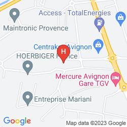 Map CONFORTEL AVIGNON