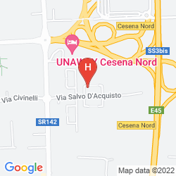 Map UNAWAY HOTEL CESENA NORD