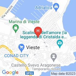 Map PALACE HOTEL VIESTE