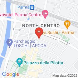 Map SAVOY HOTEL PARMA