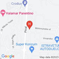 Map ZDJELAR APARTMENTS