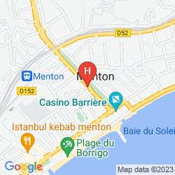 Map HOTEL MODERNE