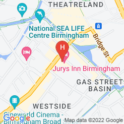 Map JURYS INN BIRMINGHAM