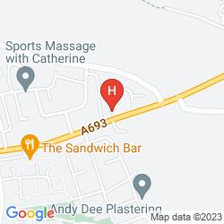 Map BEAMISH HALL HOTEL