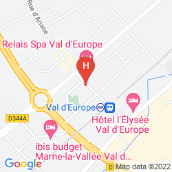 Map RELAIS SPA CHESSY VAL D'EUROPE