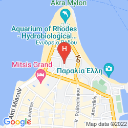 Map ACHILLION HOTEL
