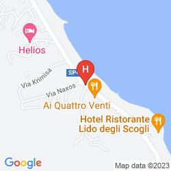 Map CASAROSSA HOTEL BEACH CLUB & 'A QUADARA