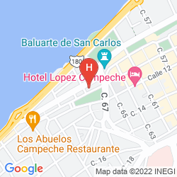 Map HOTEL DEL PASEO
