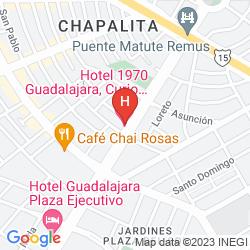 Map POSADA GUADALAJARA