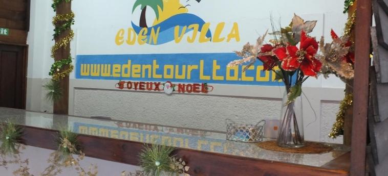 Hotel Eden Villa: Wandmalerei MAURITIUS