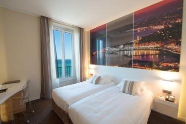 Hotel Best Western Prince De Galles: Gastzimmer Blick MENTONE