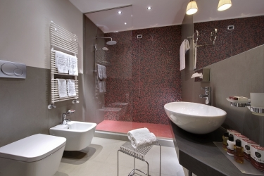 Hotel Esplanade Tergesteo: Badezimmer MONTEGROTTO TERME - PADUA