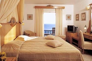 Hotel Royal Myconian Resort & Thalasso Spa Center: Schlafzimmer MYKONOS