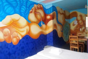 The Flying Pig Beach Hostel: Aménagement chambre NOORDWIJK AAN ZEE