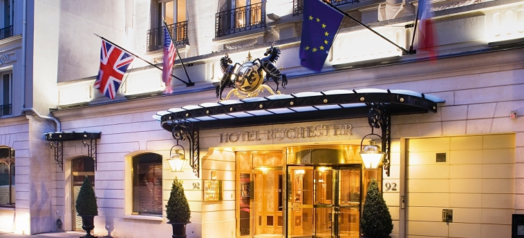 Hotel Rochester Champs Elysees: Entrance PARIS