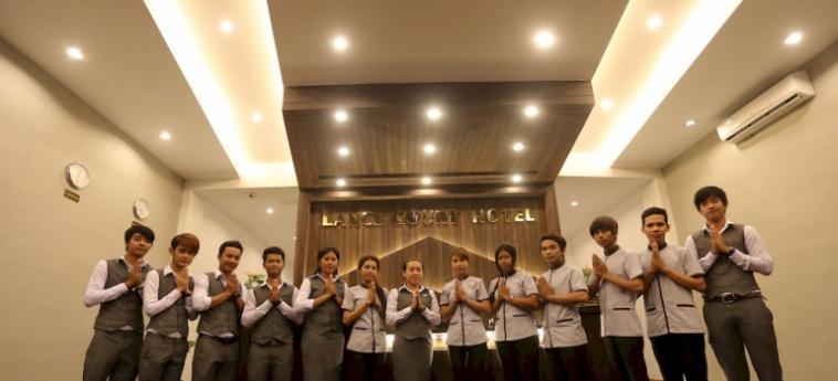 Hotel Lance Court: Wandmalerei PHNOM PENH