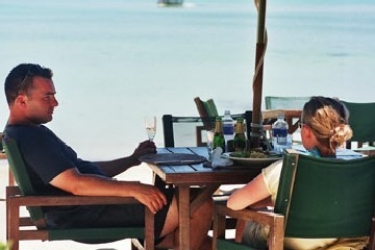 Hotel Pacific Resort: Ristorante Esterno RAROTONGA