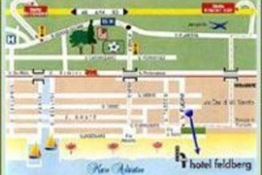 Hotel Feldberg: Mappa RICCIONE - RIMINI