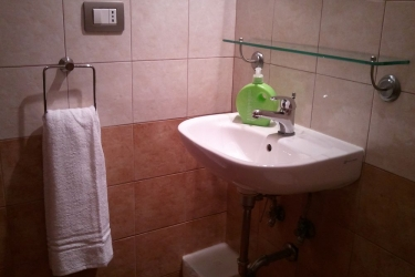 B&b Casa Di Silvia: Bathroom Sink ROME