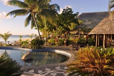 Hotel Le Lagoto Resort: Am Pool Cafè SAMOA