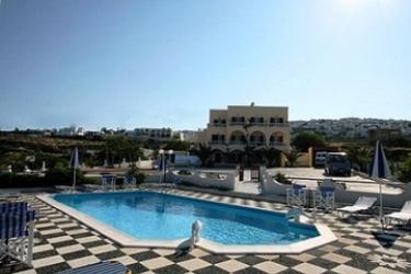 Hotel Villa Romantic: Außenschwimmbad SANTORINI