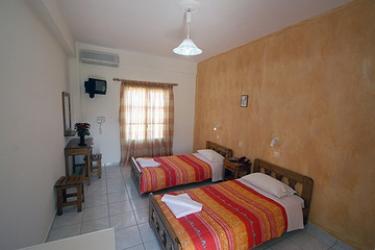 Hotel Villa Romantic: Schlafzimmer SANTORINI