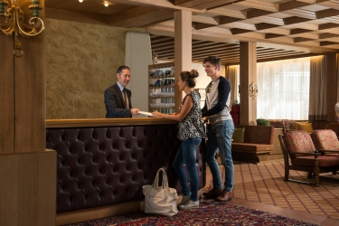 Hotel Residence Antares: Entrada Interrior SELVA DI VAL GARDENA - BOLZANO