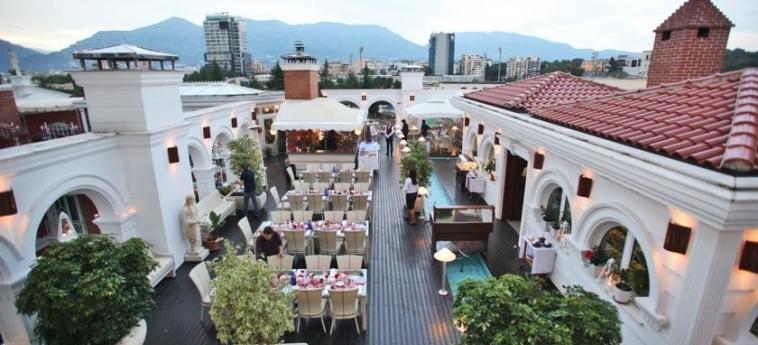 Hotel Xheko Imperial: Terrasse TIRANA