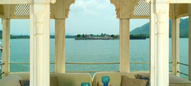 Hotel Taj Lake Palace: Terrasse UDAIPUR