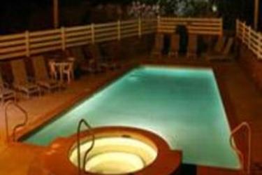 Hotel Historic Pioneer Lodge: Außenschwimmbad ZION NATIONAL PARK (UT)
